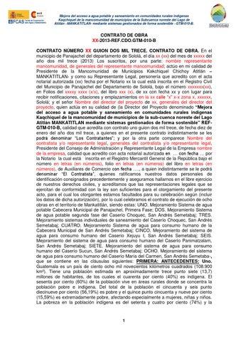 Modelo De Contrato De Obra By Mankatitlan Mancomunidad Issuu