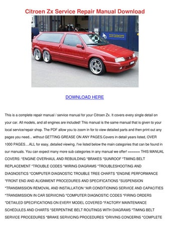 citroen zx service repair manual download by donnycorbett issuu rh issuu com Citroen CX Citroen DS5