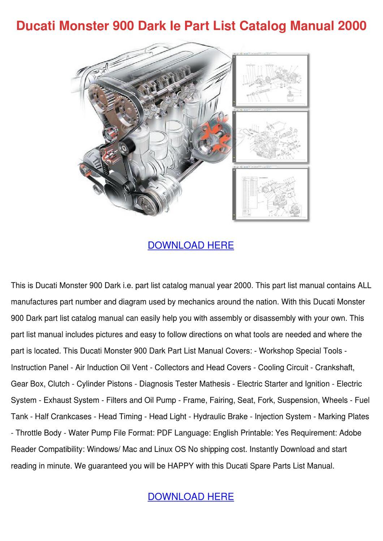 Ducati Monster 900 Dark Ie Part List Catalog by PeggyPaulk - issuu