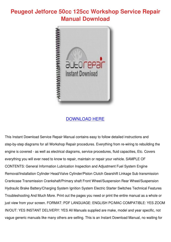 Peugeot Jetforce 50cc Wiring Diagram Libraries Fuel Pump Diagramspeugeot 125cc Workshop Service By Shellischiller Issuu Switch