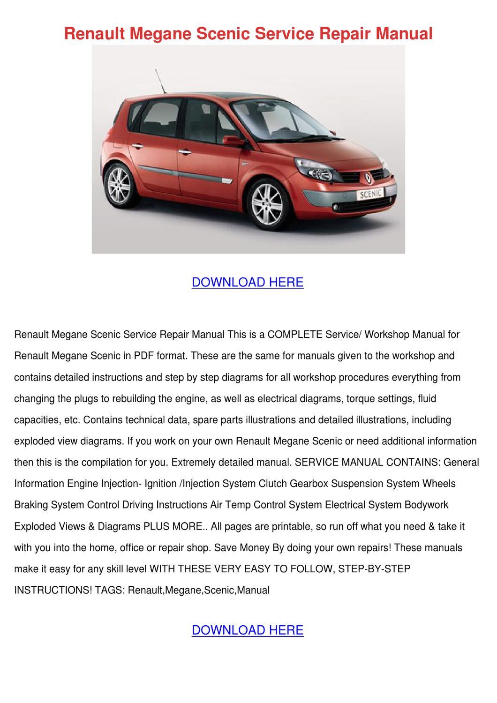 Renault Megane Scenic Service Repair Manual By Terrancespring Issuu Engine Diagrams