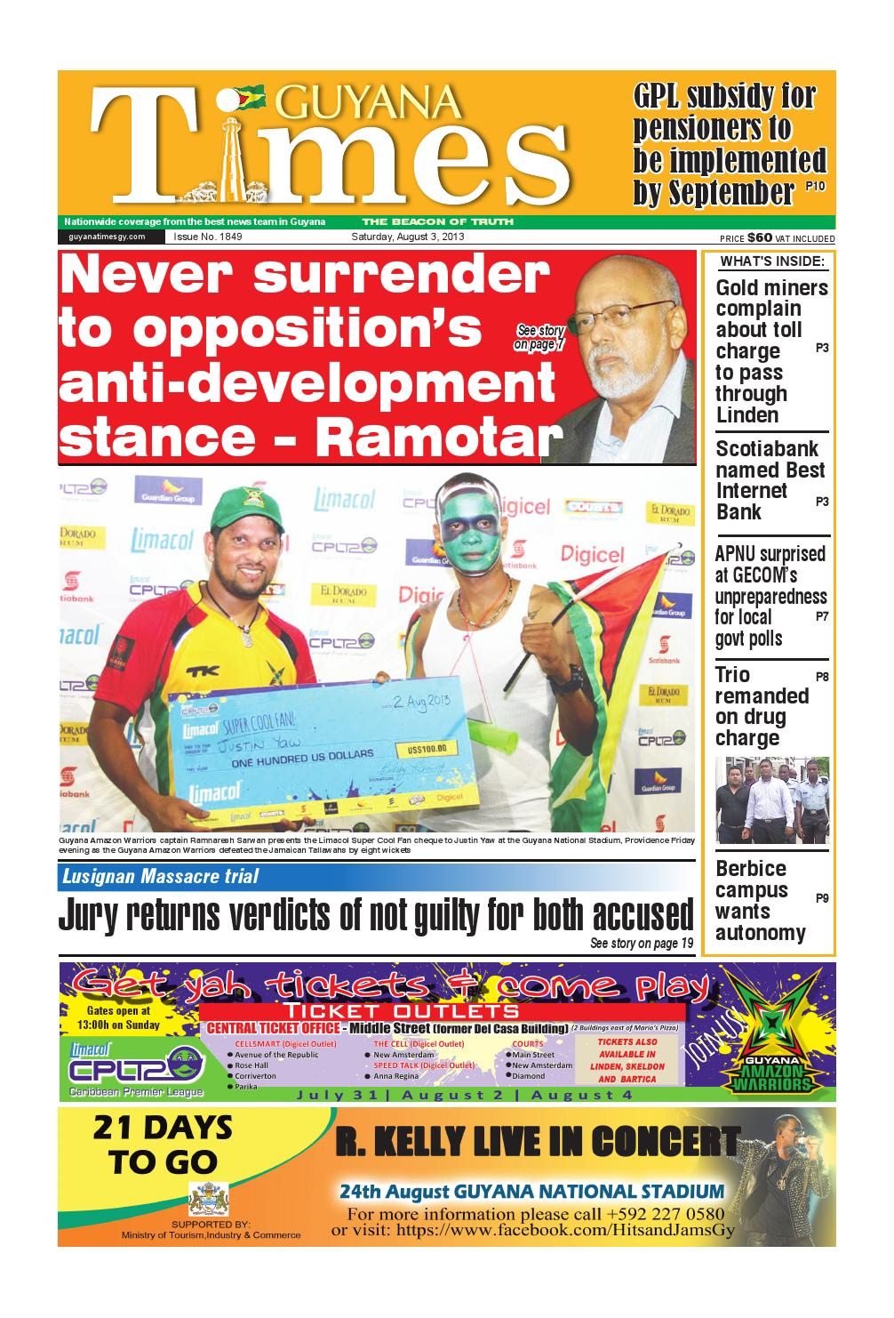 Guyana times daily by Gytimes - issuu