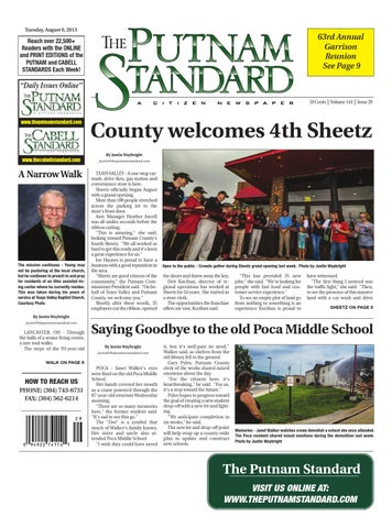 Putnam Standard Aug 6 2013 By Pc Newspapers Issuu