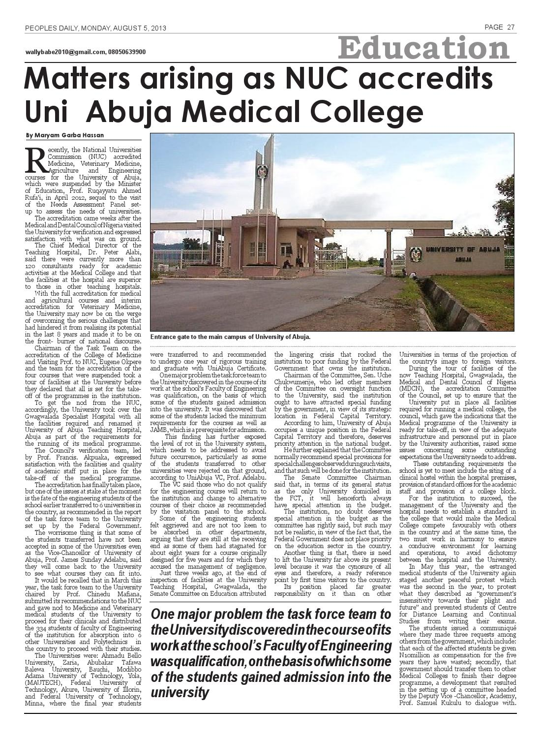 Peoples Daily Newspaper, Monday 05, August, 2013 by Peoples