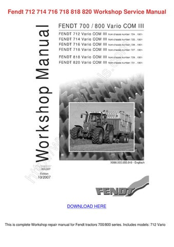fendt 712 714 716 718 818 820 workshop servic by tanyasprouse issuu rh issuu com fendt 306 service manual fendt 930 service manual