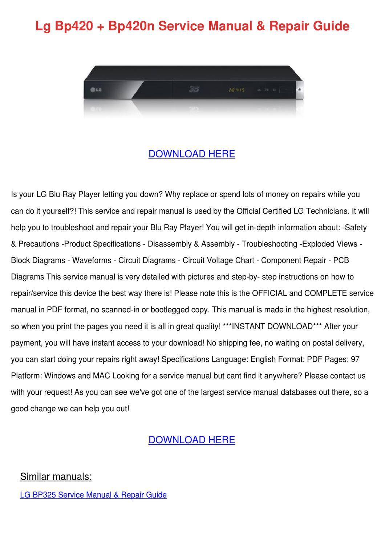 lg blu ray player instructions