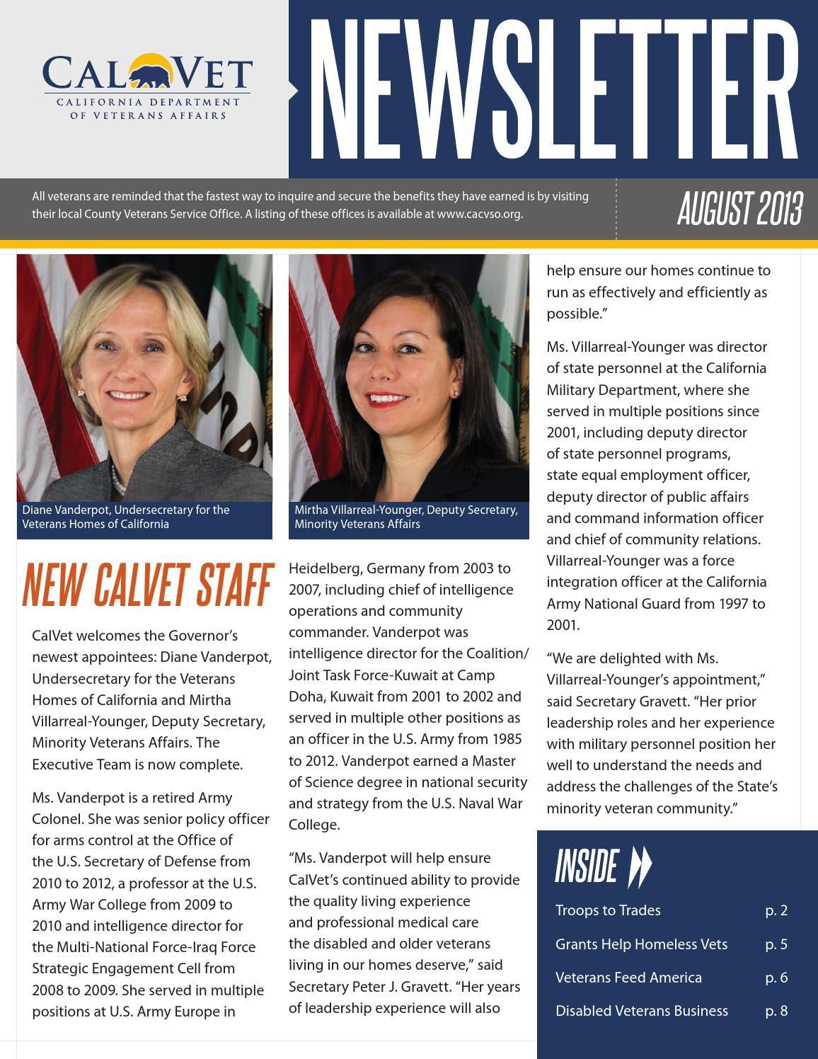 Calvet Newsletter (Aug 2013) by VA Palo Alto Public Affairs - issuu