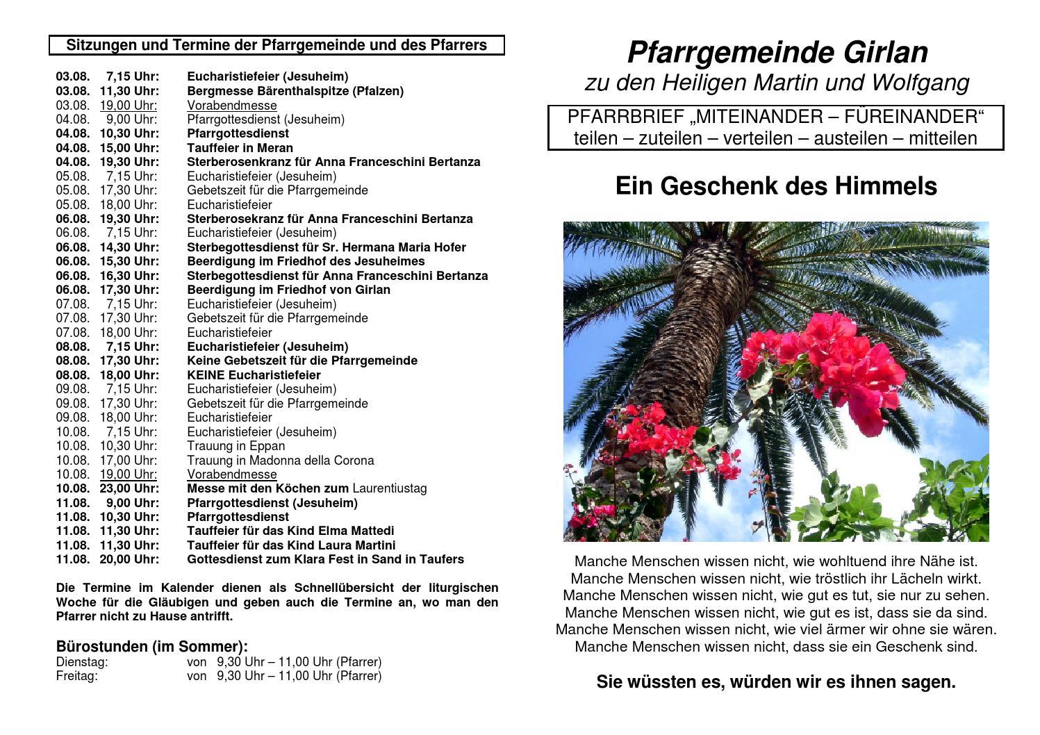 Mitteilungsblatt 2013 Nr 31 By Girlan Bibliothek Issuu