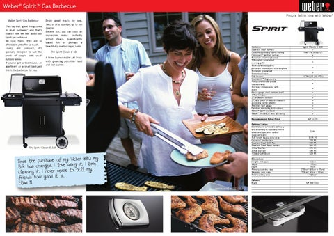 Weber Spirit Classic E-320 Gas Barbecues Specifications by R