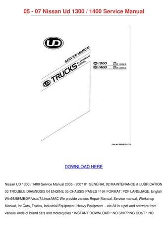 05 07 nissan ud 1300 1400 service manual by kaylajanssen ... nissan ud 440 wiring diagram