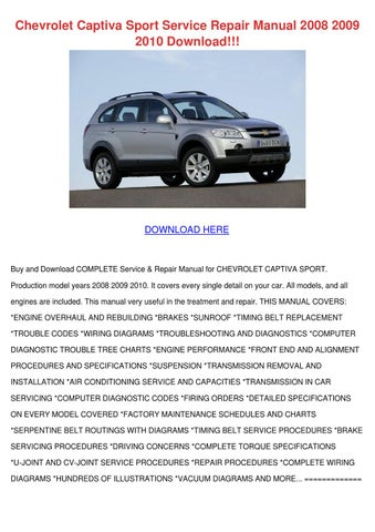 chevrolet captiva sport service repair manual by heidigarris issuu rh issuu com manual service chevrolet captiva service manual captiva