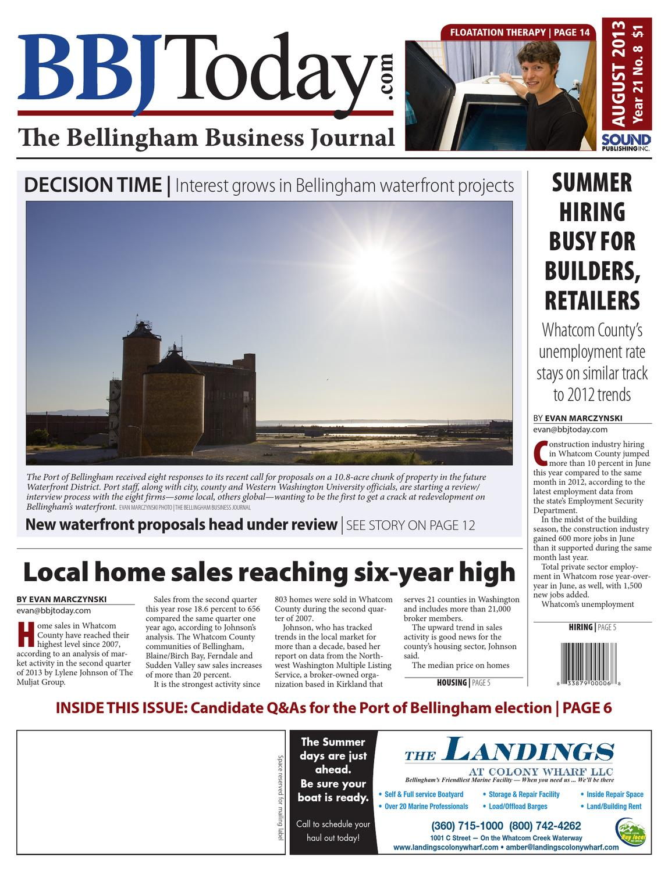 bellingham business journal august 05 2013 by sound publishing issuu rh issuu com Real Estate Bellingham WA Walking Downtown Bellingham