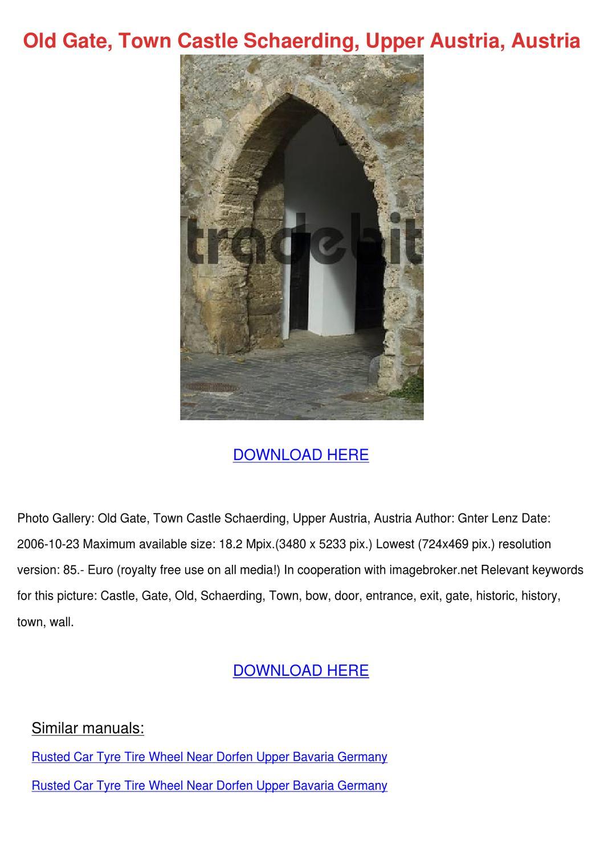 Old Gate Town Castle Schaerding Upper Austria by AdaWhelan - Issuu
