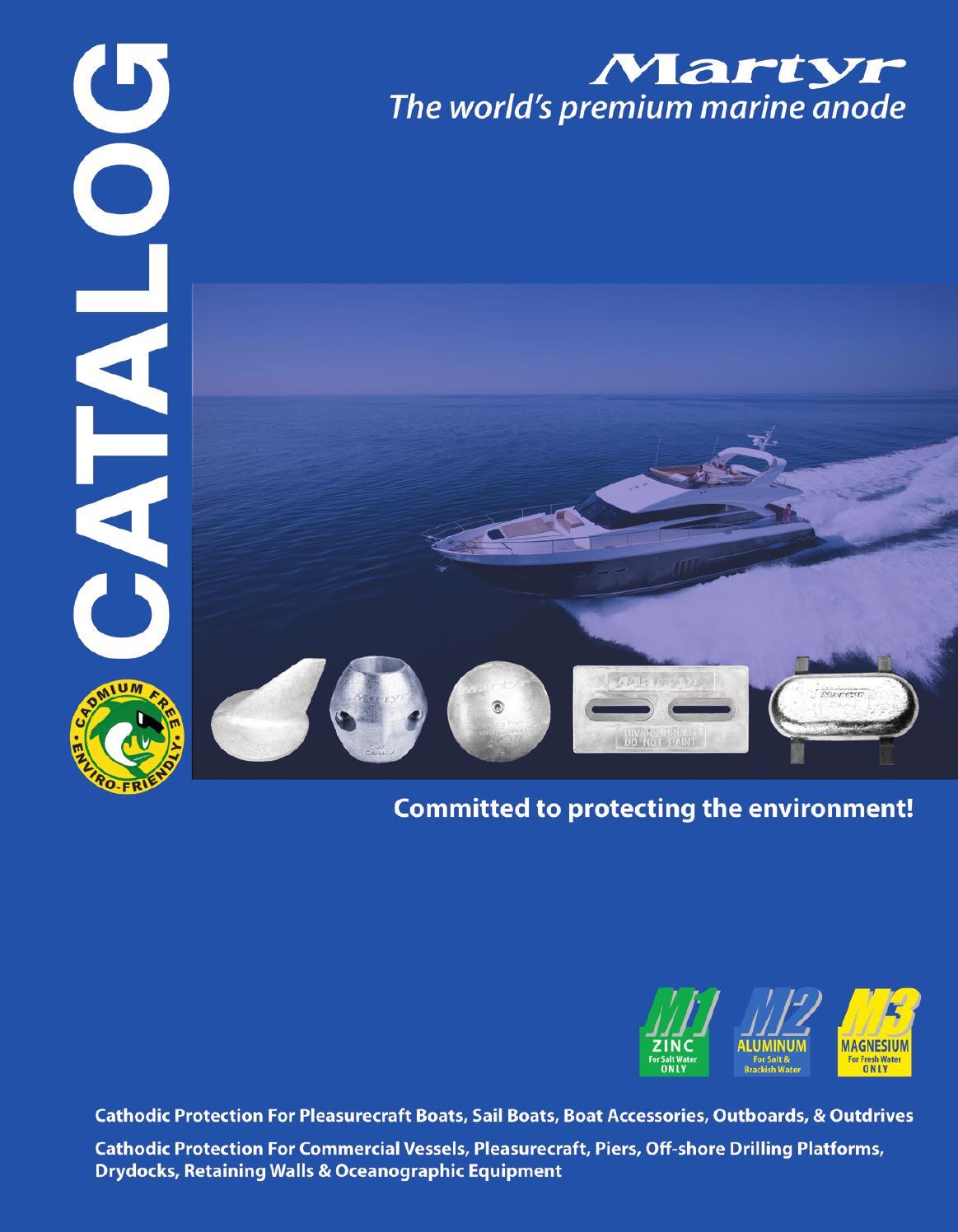 Aluminium 1.6Kg Bar Anode for yacht ship hull 305 x 76 x 41mm boat bolt on