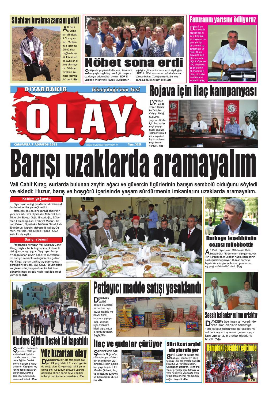 07 08 2013 Gazete Sayfalari By Diyarbakir Olaygazetesi Issuu