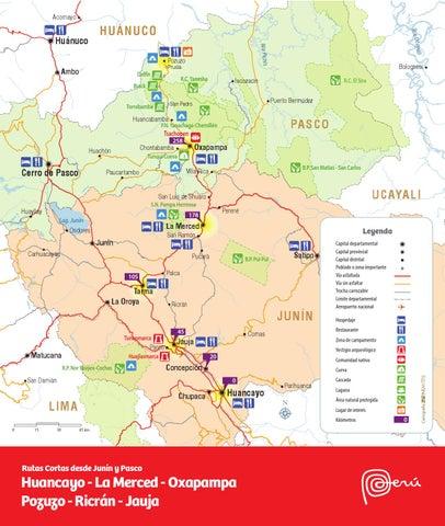 Oxapampa Peru Map.Mapa Huancayo La Merced Oxapampa Pozuzo Ricran Jauja By