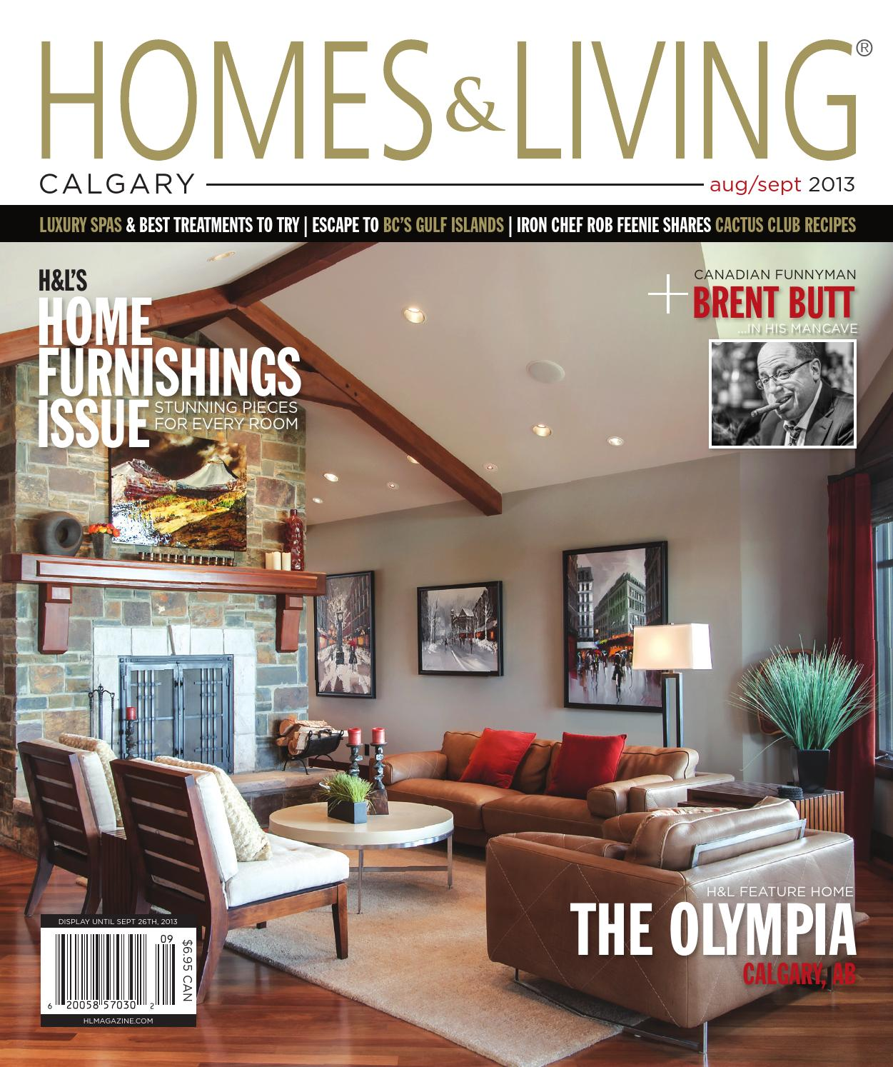 homes living magazine calgary aug sept 2013 teaser by homes living magazine h l magazine. Black Bedroom Furniture Sets. Home Design Ideas