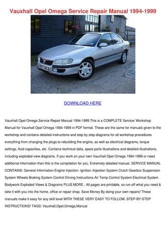 Vauxhall Opel Omega Service Repair Manual 199 by SimoneSheridan ...