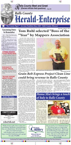 Ralls County Herald Enterprise Aug 8 Week 32 by David Eales issuu