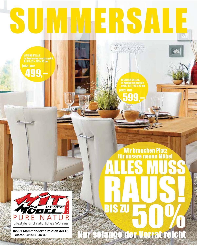 summersale bei mit m bel keser in mammendorf by perspektive werbeagentur issuu. Black Bedroom Furniture Sets. Home Design Ideas
