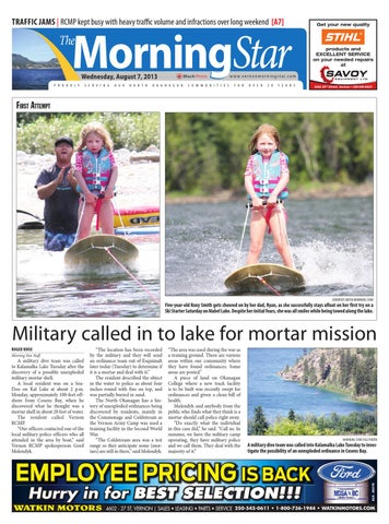 187d75a5fce Vernon Morning Star, August 07, 2013 by Black Press Media Group - issuu