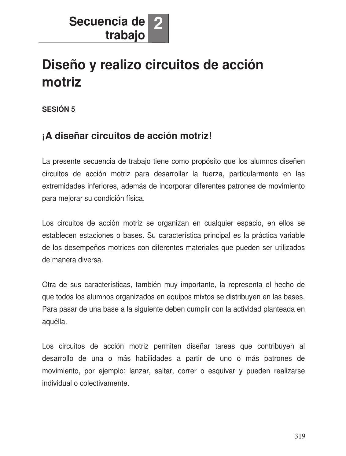 Circuito De Accion Motriz : Apuntes o grado educación física ii by rarámuri issuu