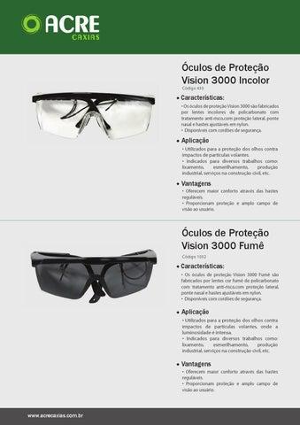 c3c748d85 EPI's Óculos de Proteção Vision 3000 Incolor Código 430