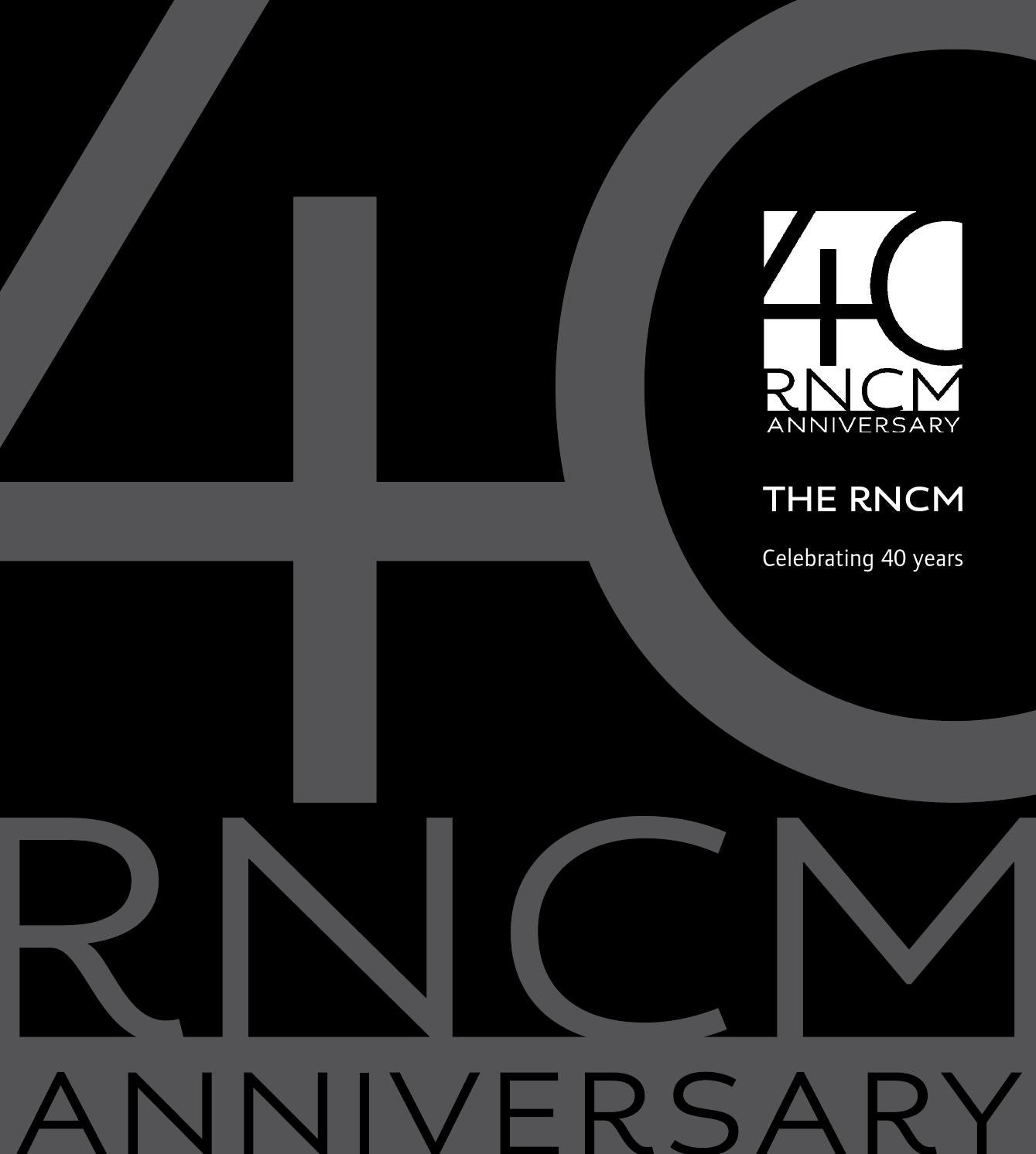 the rncm celebrating 40 years by royal northern college