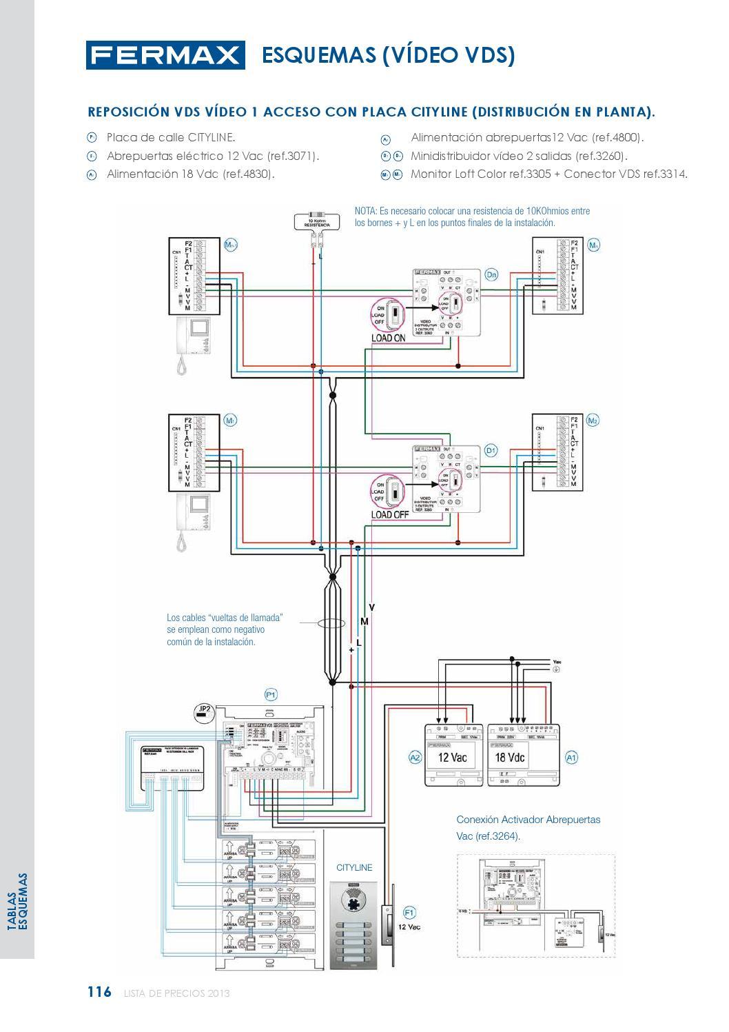 page_118 lista precios fermax 2013 by gomez moreno mijas sl issuu fermax cityline wiring diagram at cita.asia