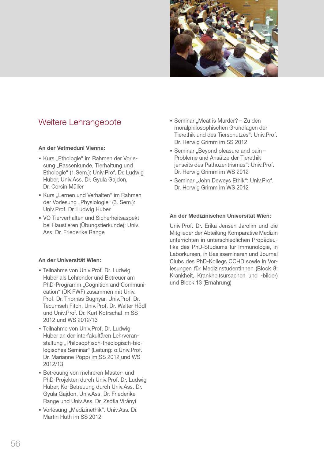Jahresbericht 2012 des Messerli Forschungsinstituts an der Vetmeduni ...