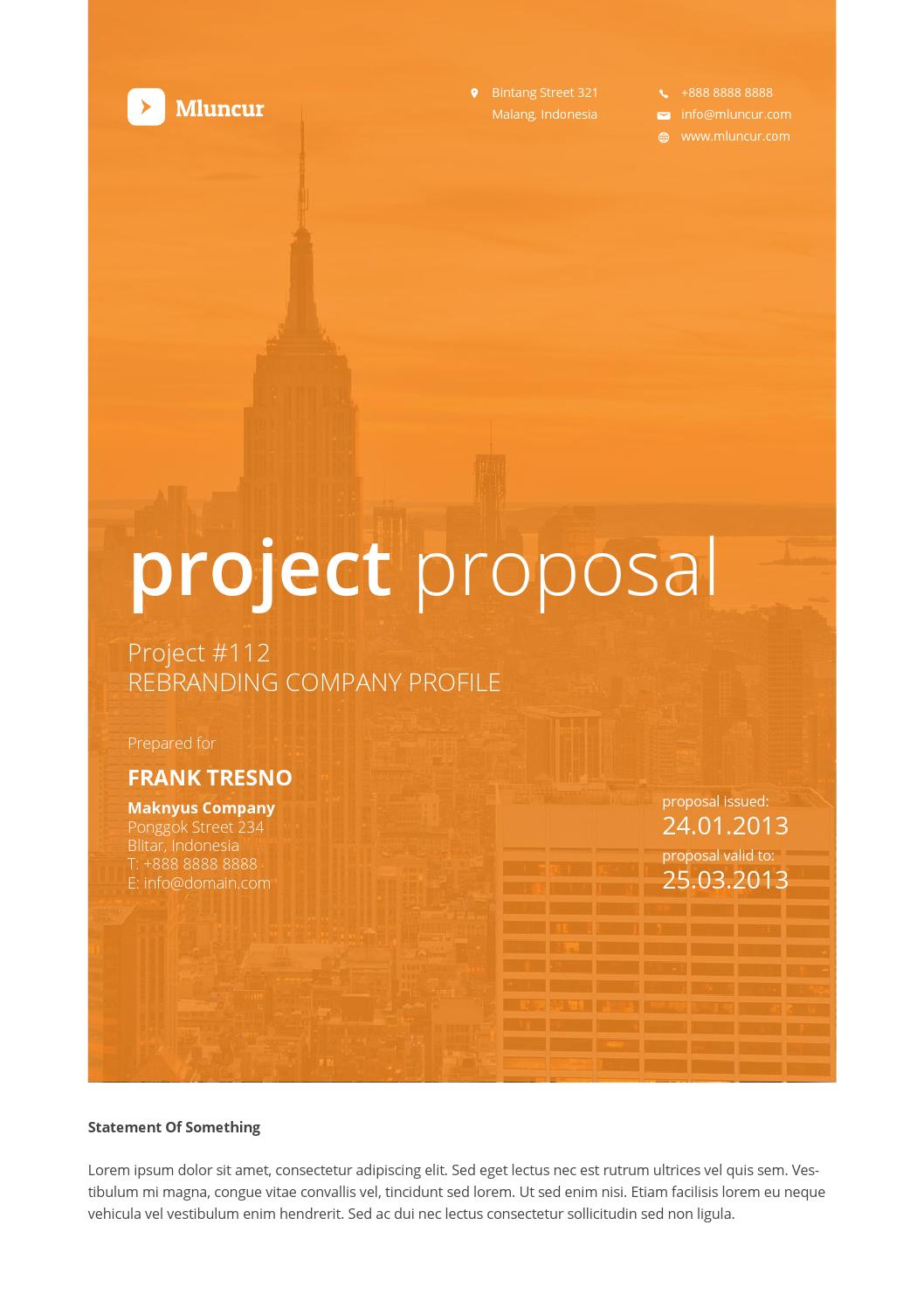 mluncur clean proposal template by cahyo issuu