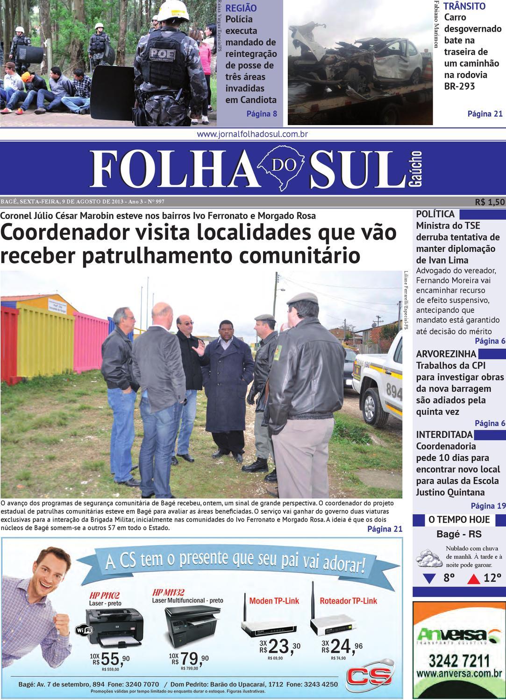 a21daea6970fd Folha do Sul Gaúcho Ed. 997 (09 08 2013) by Folha do Sul Gaúcho - issuu