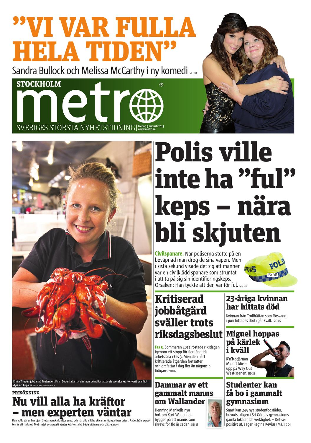 new styles c655a fbe79 20130809 se stockholm by Metro Sweden - issuu