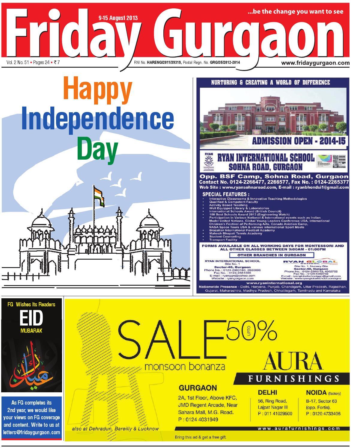 Friday gurgaon august 9 15, 2013 by Friday Gurgaon - issuu