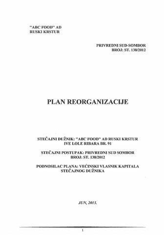 Plan Abc Food Jun 2013 By Igor Biki