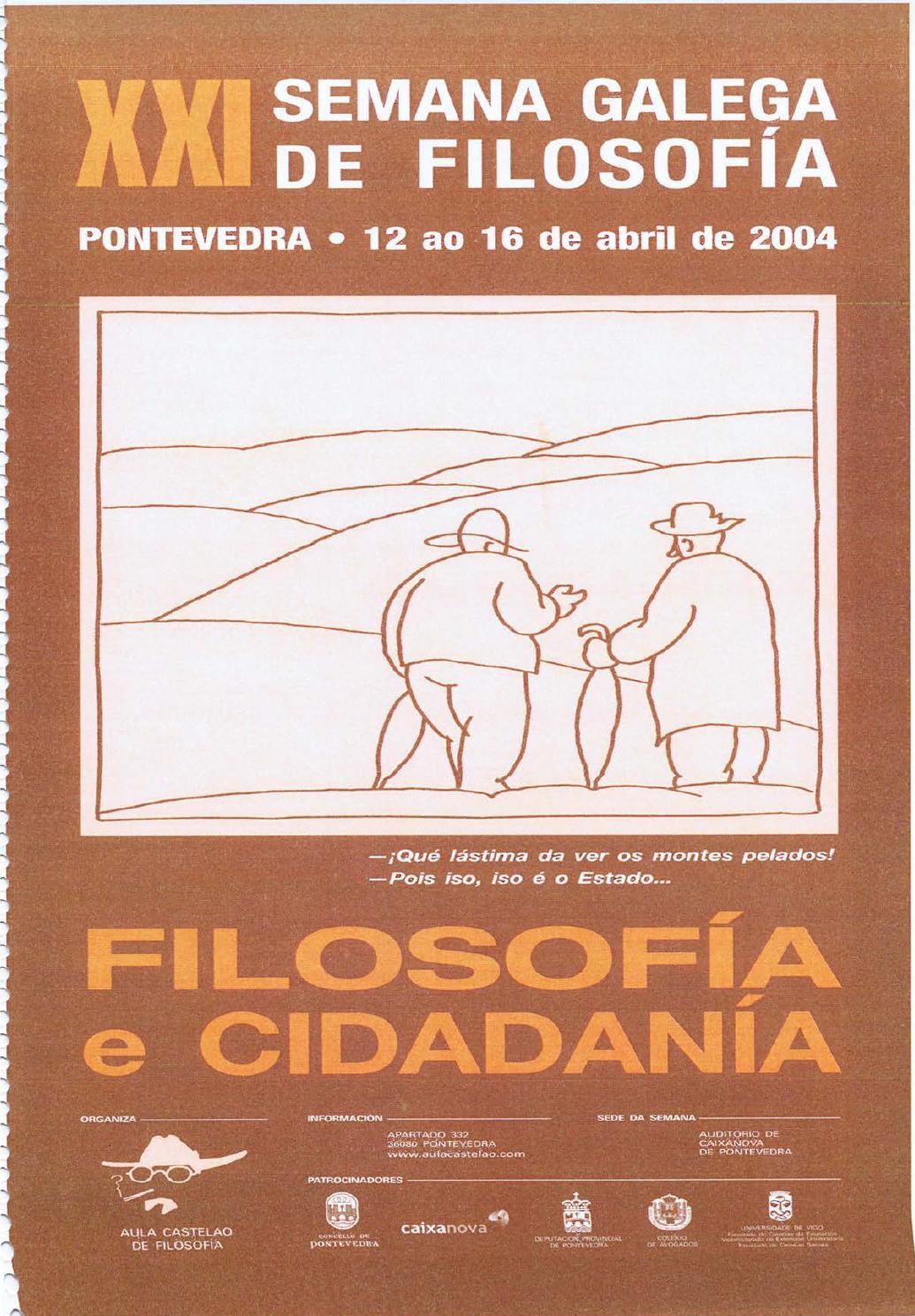 Xxi Semana Galega De Filosofia Dossier De Prensa By Aula Castelao