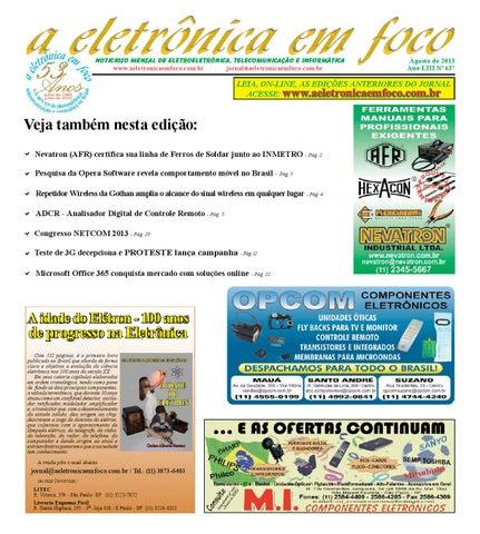Noticioso Mensal de Eletroeletrônica, Telecomunicação e Informática  www.aeletronicaemfoco.com.br jornal aeletronicaemfoco.com.br f8ae62b572