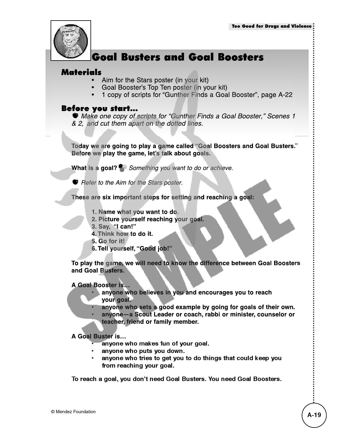 ASA Goal Busters and Goal Boosters by Lillian Van - issuu