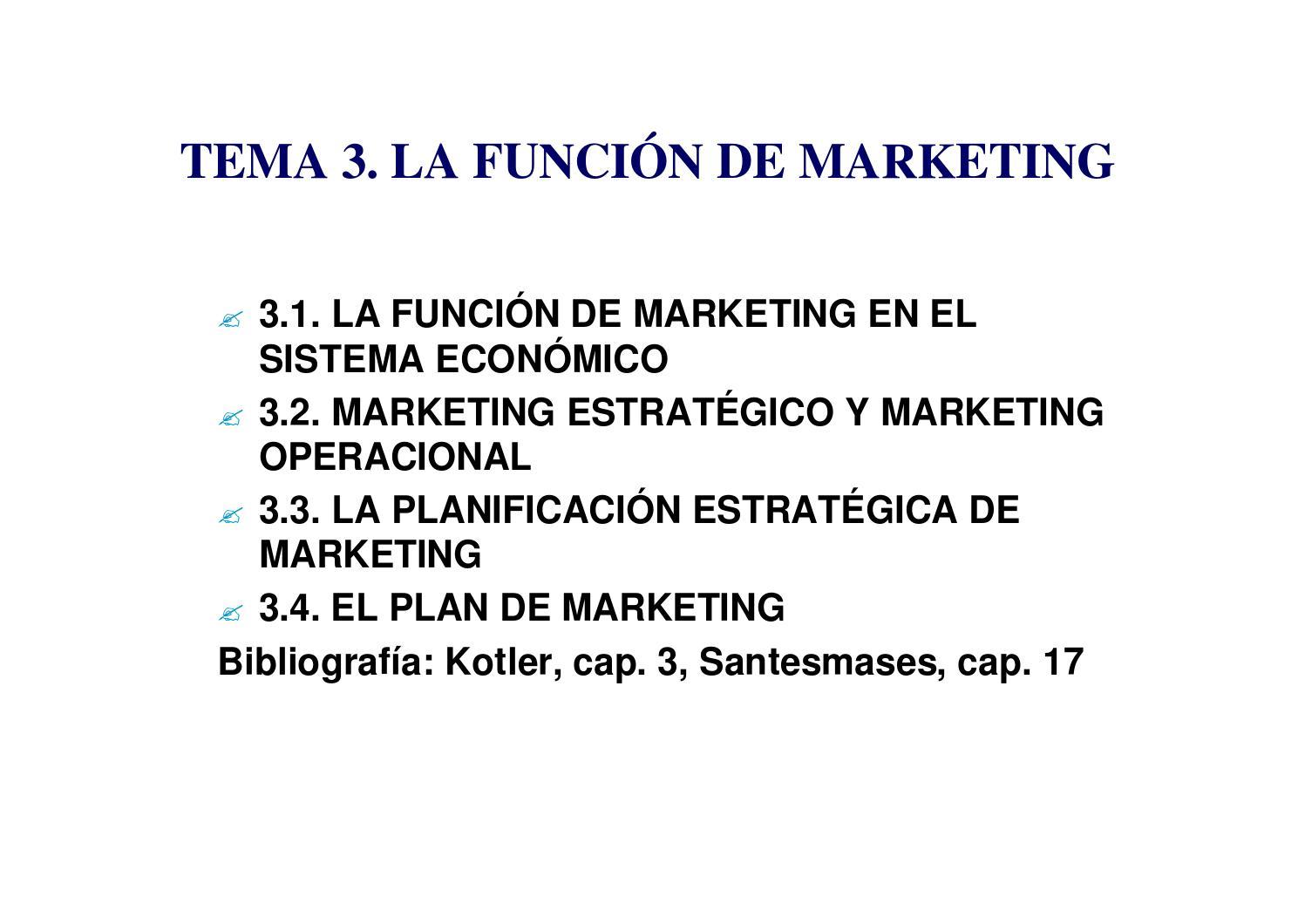 Sesión 3 la función del marketing by Madai - issuu