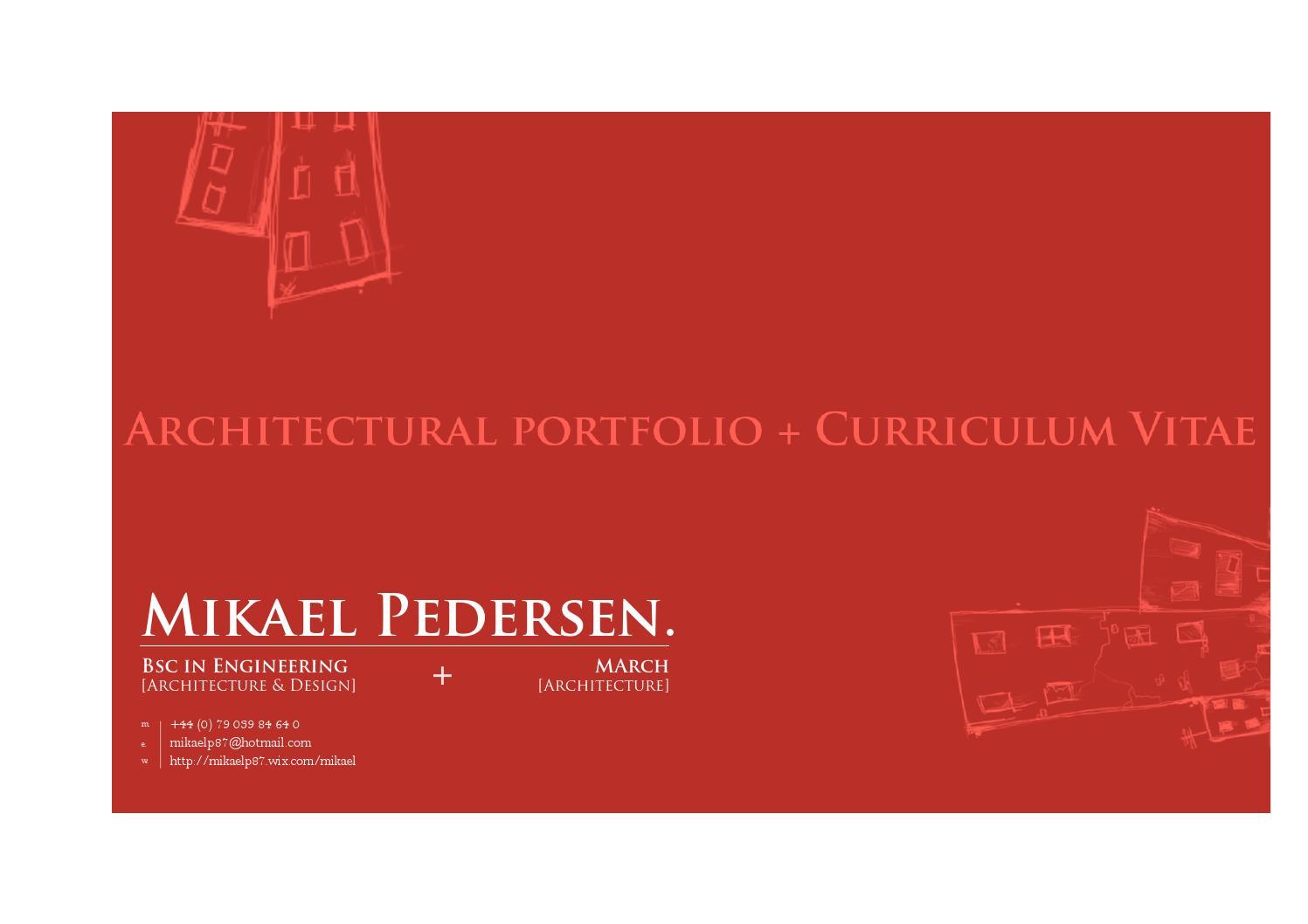 Architecture portfolio by Mikael Pedersen - issuu