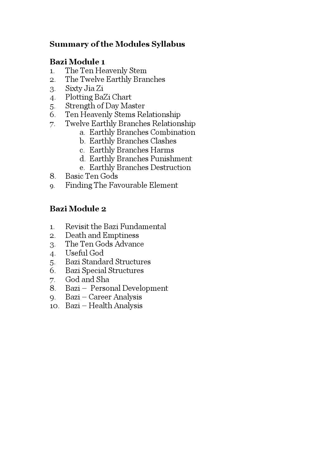 Summary of the Bazi Syllabus M1 & M2 by Josephine Phang - issuu