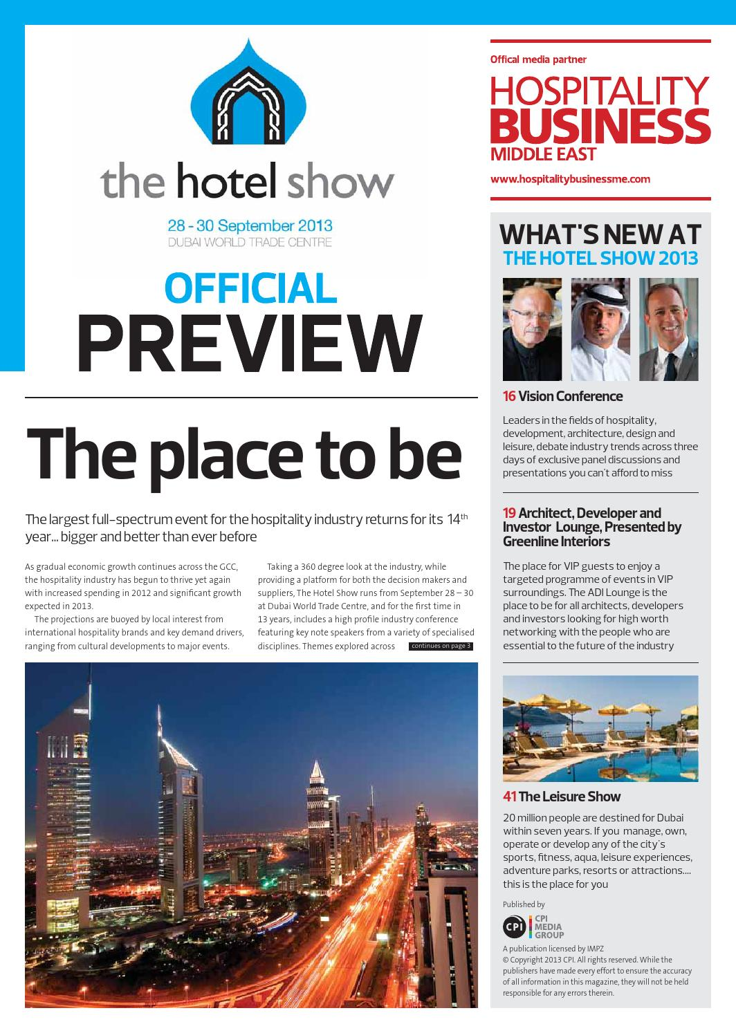 the hotel show official preview by hospitality business me issuu
