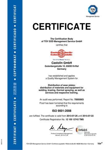 de-zertifikat-tuv-en by Castolin Eutectic - issuu