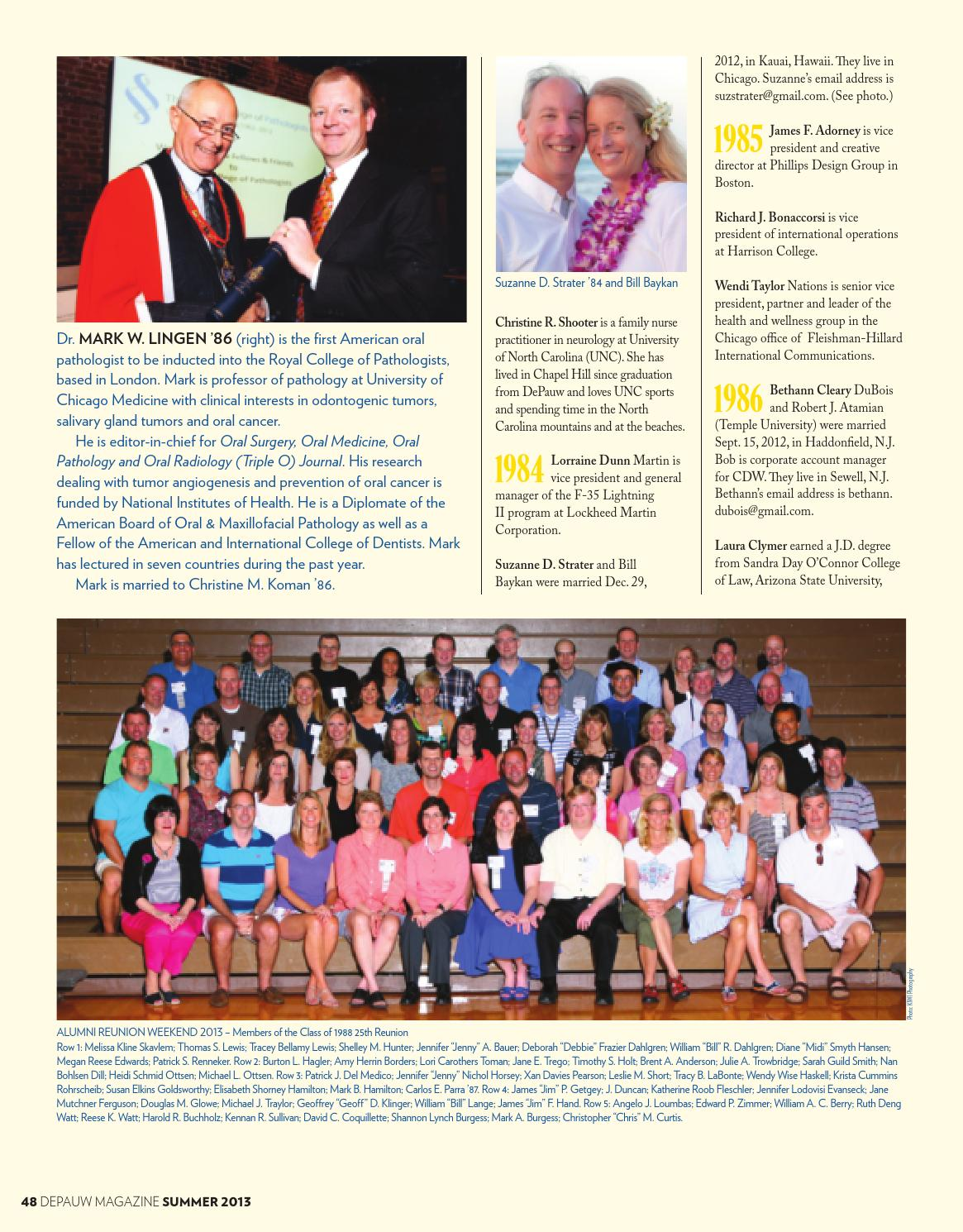 DePauw Magazine Summer 2013 by DePauw University Publications - issuu