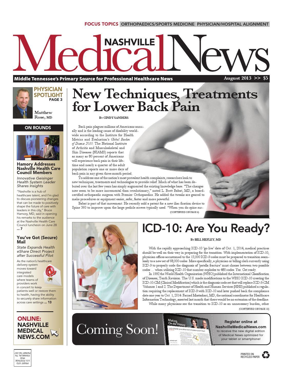 Nashville Medical News August 2013 by FW Publishing - issuu