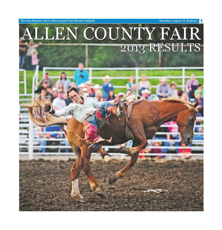 Beau Allen County Fair Results 2013 Web By Iola Register   Issuu