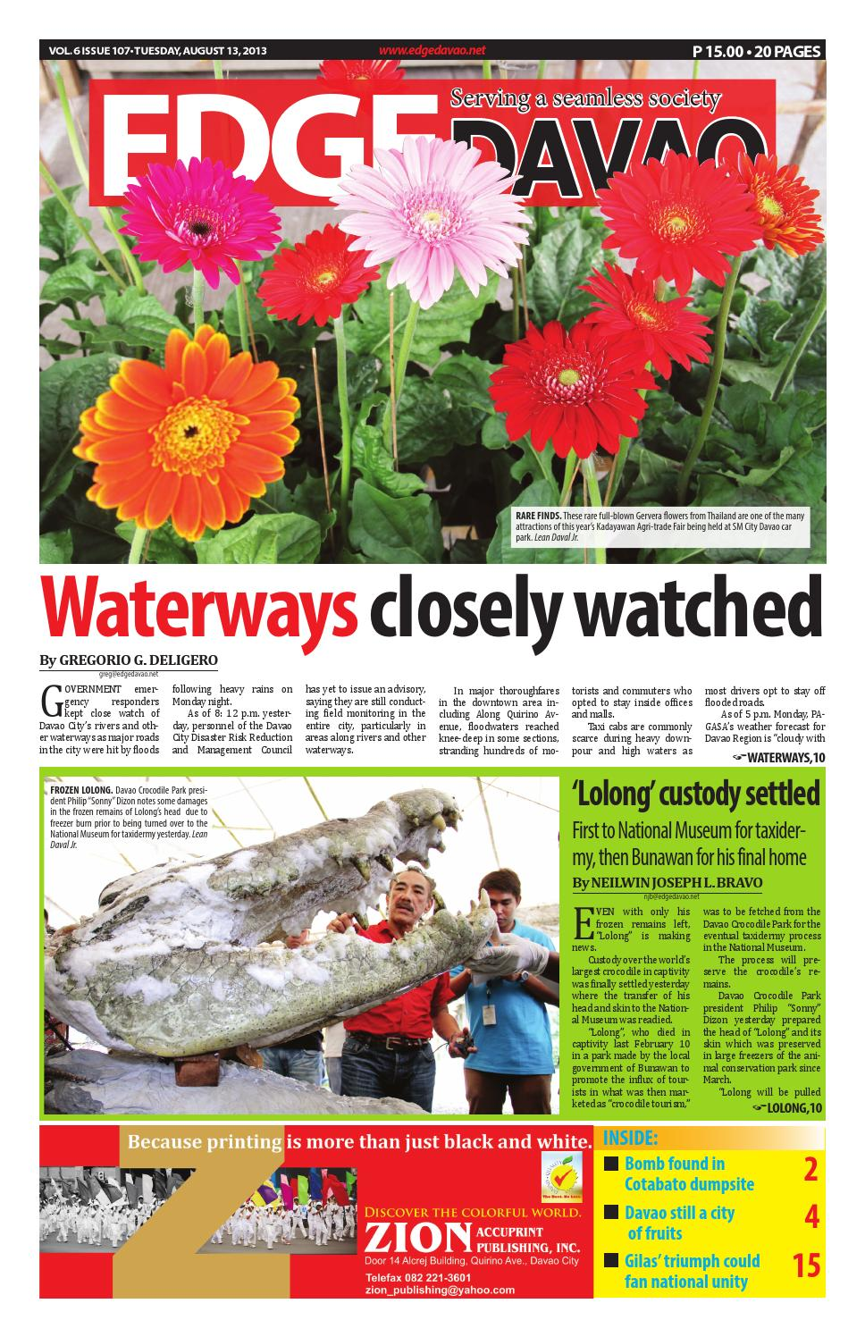 Edge Davao 6 Issue 107 by edge davao the business paper ...