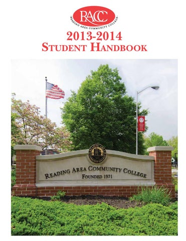 Reading Area Community College Student Handbook By Alison Wenger Issuu