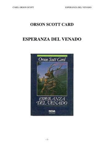 Esperanza del venado by Humbertolazo - issuu