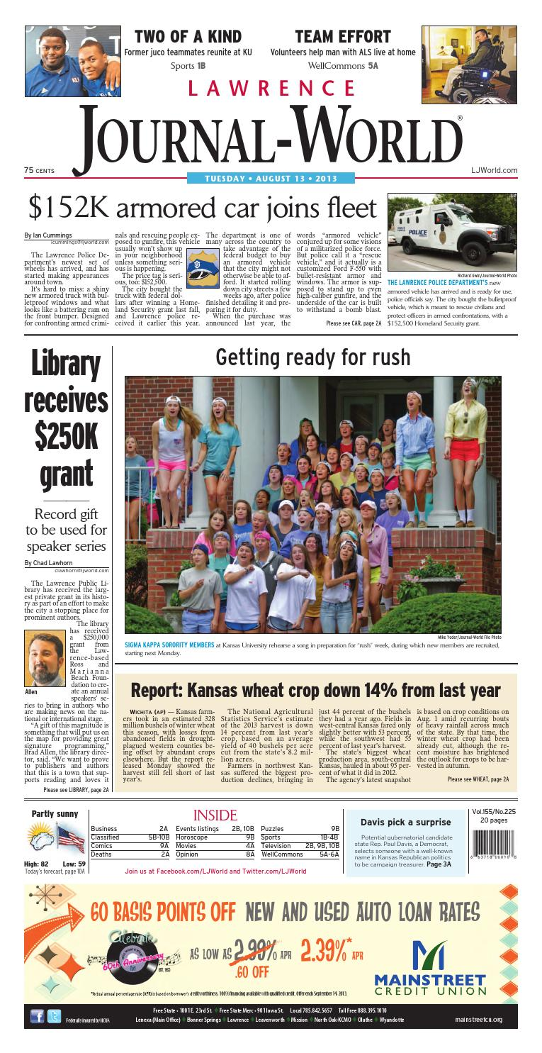 7e7e434a246 Lawrence Journal-World 08-13-13 by Lawrence Journal-World - issuu